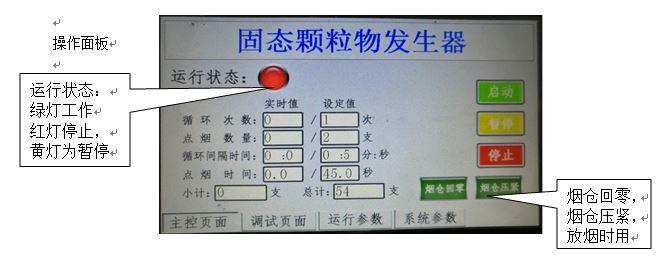 固态颗粒物(香烟烟雾)发生器,汇分FSQ-YW-III软件界面
