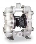 Sandpiper® S07B1K2KQNS000 气动双隔膜PVDF泵,聚偏氟乙烯(PVDF),23 GPM,PTFE隔膜