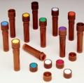 Nalgene 342830-0113 无菌,琥珀色小包装瓶盖,高密度聚乙烯,11毫米,橙色编码