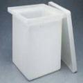 Nalgene 14100-0045 方形罐(带盖),高密度聚乙烯,30加仑容量