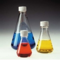 Nalgene 4115-0250  250mL一次性无菌锥形瓶,平底,通气盖PETG