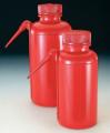 Nalgene DS2408-0250-ROC UnitaryTM安全洗瓶,红色低密度聚乙烯瓶体/装管;聚丙烯螺旋盖,250ml容量 WSHBTL WM RED UNTRY LDPE;250ML