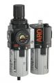 """ARO-Flo C38341-600 组合过滤器/调节器和油雾器,最大120 SCFM,最大压力为150 psig,温度范围为23-125 F,5微米的过滤器,1/2""""NPT(F)与聚碳酸酯碗和手动阀"""
