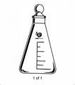 Labglass/Wilmad Flask Erl 125ML St 22 Stpr LG-7790-106